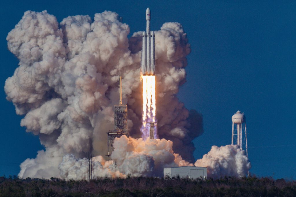 The combustion of hydrogen in oxygen can power rockets into space